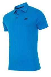 4F Blue galléros férfi póló, 100% pamut