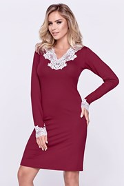 Tiara burgundy női hálóing