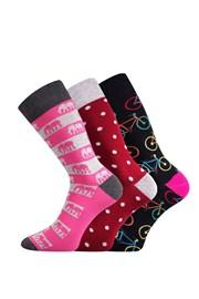Elin női zokni, 3 pár 1 csomagban