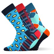 Woodoo MixE divatos zokni 3 pár egy csomagban