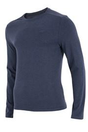4F férfi póló, kék, hosszú ujjakkal