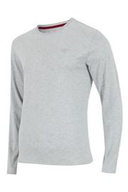 4F férfi póló, szürke, hosszú ujjakkal