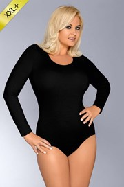 AgátaM - pamut női body, fekete