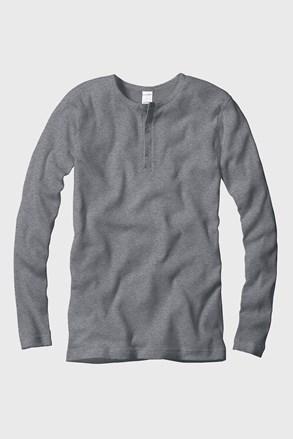 CECEBA férfi póló hosszúujjú, bordázott anyag