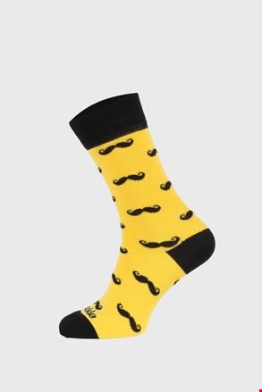 Fusakle zokni bajuszokkal, sárga