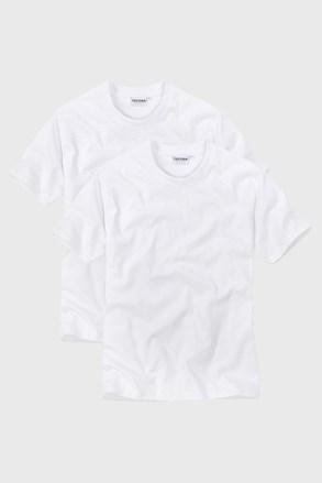 White férfi póló V alakú nyakkivágással 2 db-os csomagolásban