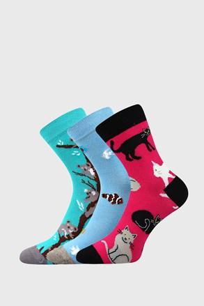 3 PÁR Animals lányka zokni