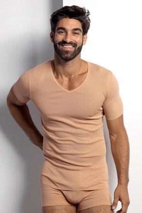 Férfi testszínű póló, ing alá ajánlott viselet