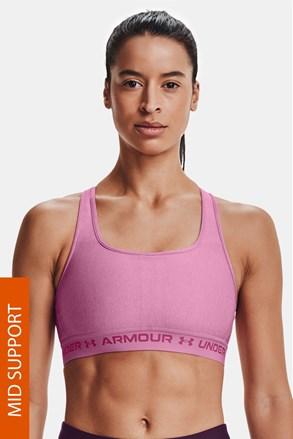Under Armour Crossback Heather rózsaszínű sportmelltartó
