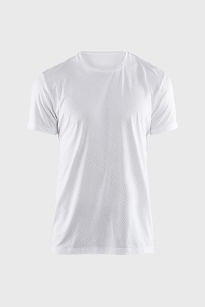 CRAFT Essential férfi póló, fehér, mintás