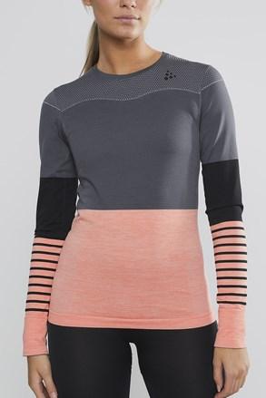Craft Fuseknit Comfort női póló, szürke-rózsaszín