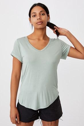 Karly rövid ujjú női basic póló, világoszöld