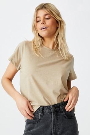 Crew rövid ujjú női basic póló, bézs
