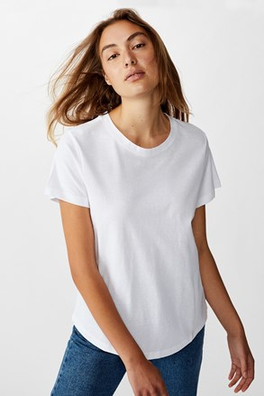 Crew rövid ujjú női basic póló, fehér