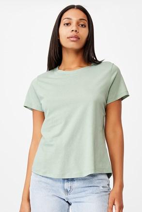 Crew rövid ujjú női basic póló, zöld