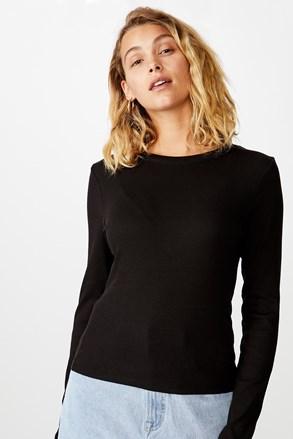 Turn hosszú ujjú női basic póló, fekete