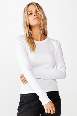 Turn hosszú ujjú női basic póló, fehér
