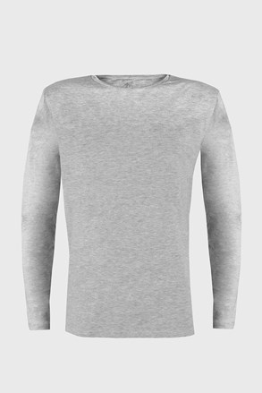Szürke póló hosszú ujjú Cotton Nature