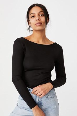 Victoria női body, fekete