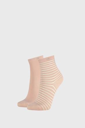 2 PÁR Calvin Klein Lilly rózsaszínű női zokni