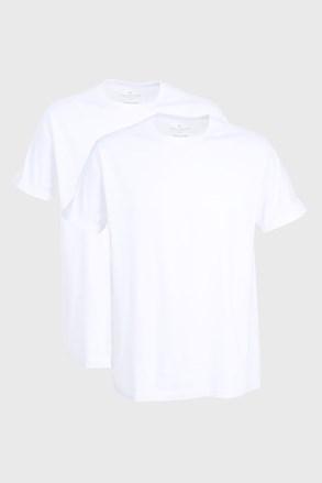 Tom Tailor férfi póló fehér, 2 db 1 csomagban