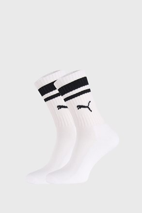 2 PÁR fehér-fekete zokni Puma Crew