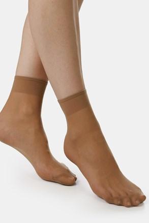 2 PÁR EVONA Silver szilon zokni, 20 DEN