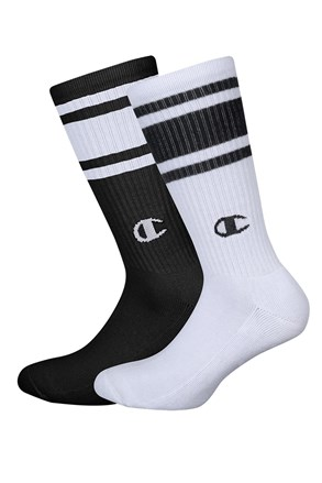 Champion magasabb zokni, 2 pár 1 csomagban, fekete-fehér