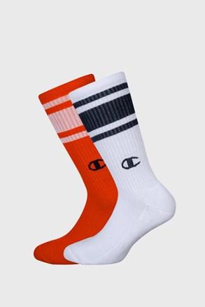Champion zokni magasabb, 2 pár 1 csomagban, narancs-fehér színben