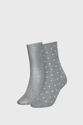 2 PÁR Tommy Hilfiger Dot Grey női zokni