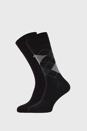 2 PÁR fekete zokni Tommy Hilfiger Check