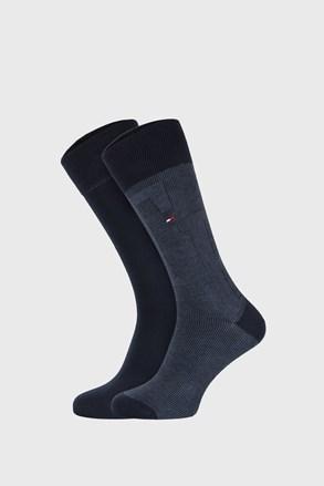 2 PÁR sötétkék zokni Tommy Hilfiger Rib