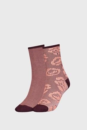 2 PÁR Tommy Hilfinger Flower barna női zokni