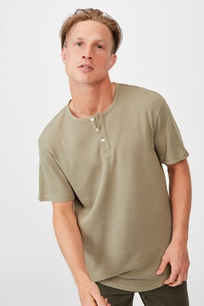 Khaki póló Henley
