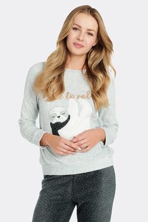 Női pizsama póló, fleece anyagból