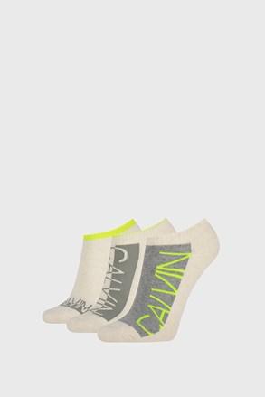 3 PÁR Calvin Klein Nola női zokni, bézs