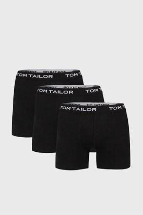 Tom Tailor férfi boxeralsó hosszabb nadrágszárakkal fekete, 3 db 1 csomagban