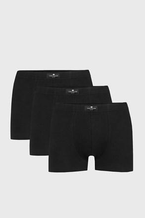 Tom Tailor Hip férfi boxeralsó fekete, 3 db 1 csomagban