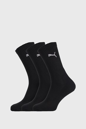 3 PÁR fekete zokni Puma Sport