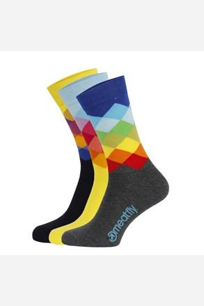 Meatfly Pixel színes zokni 3 pár 1 csomagban