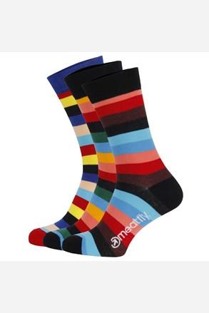 Meatfly Regular Stripe színes zokni 3 pár 1 csomagban