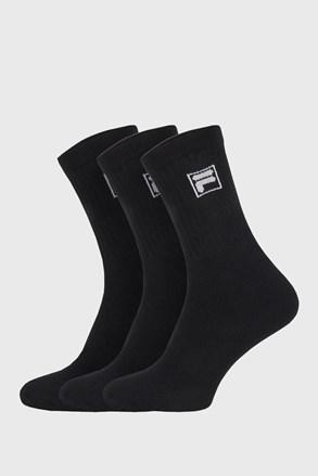 Fekete színű FILA magasabb férfizokni, 3 pár 1 csomagban