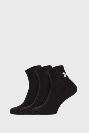 3 PÁR fekete zokni Core Under Armour