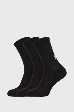 3 PÁR magas szárú fekete zokni Core Under Armour