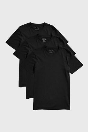 3 DB fekete póló Austin