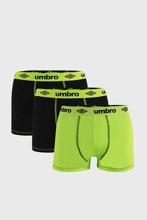 3 DB fekete-zöld boxeralsó Umbro BIO