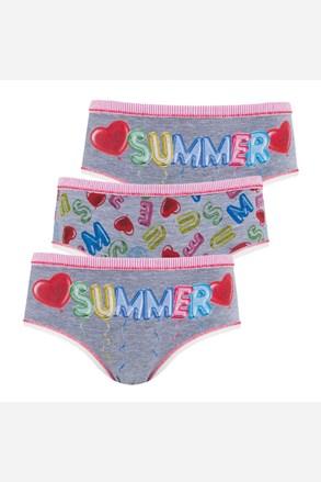 Summer lányka alsó, 3 db 1 csomagban