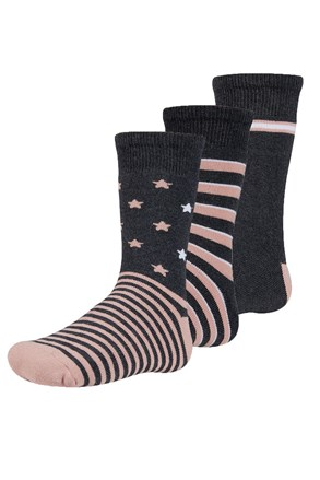 Abelu meleg gyerek zokni, 3 pár 1 csomagban