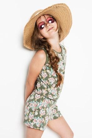 Flowers lányka pizsama overál