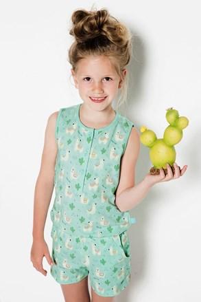 Llamas lányka pizsama overál